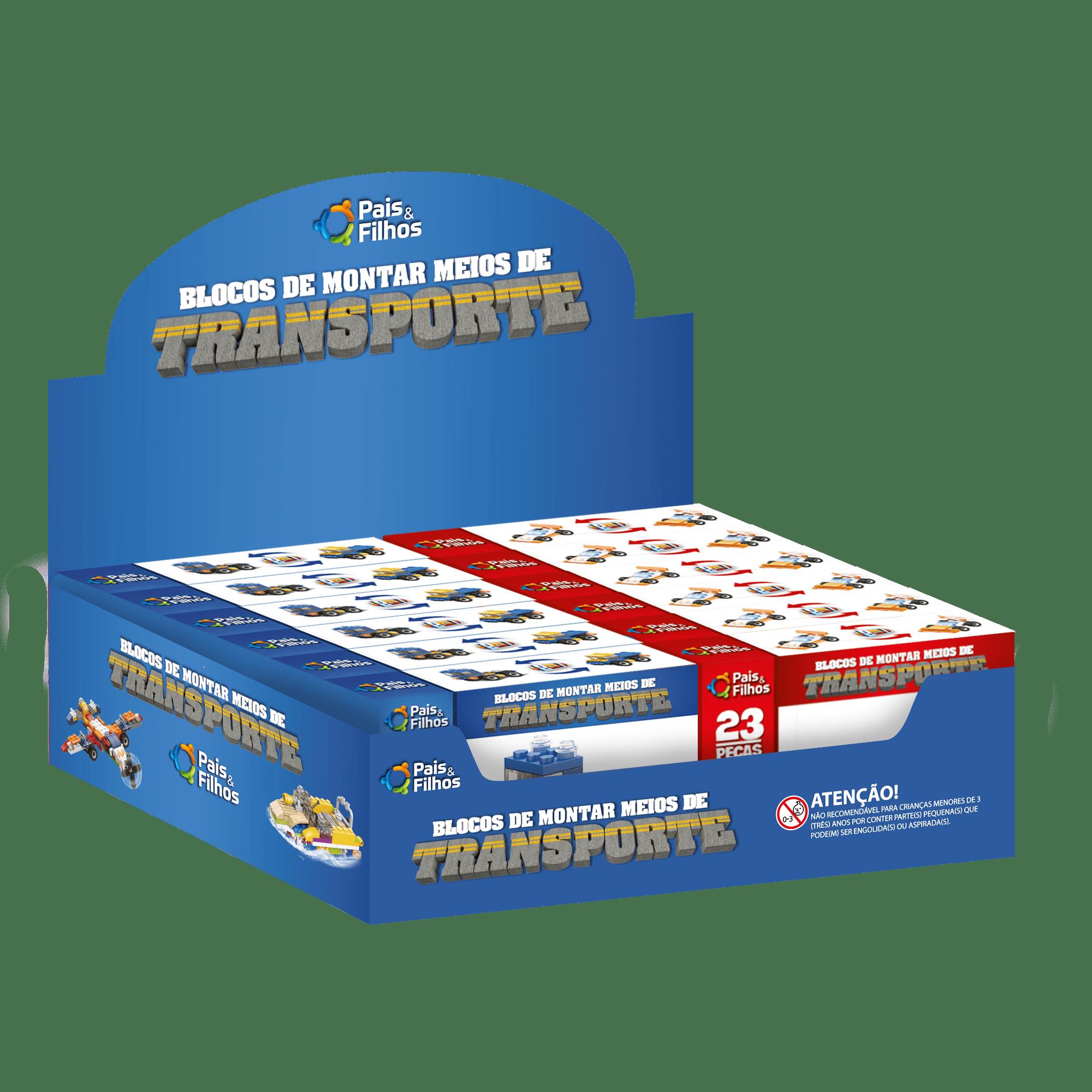Blocos de Montar  - Meios de Transporte - 2 em 1-15004