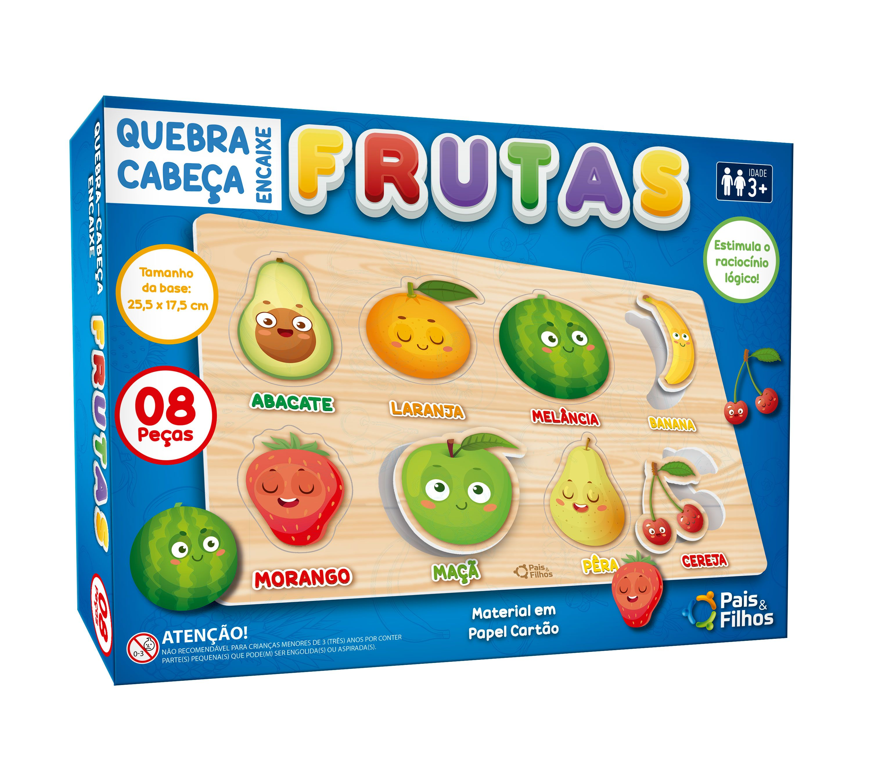 Quebra Cabeça Encaixe Frutas-10777
