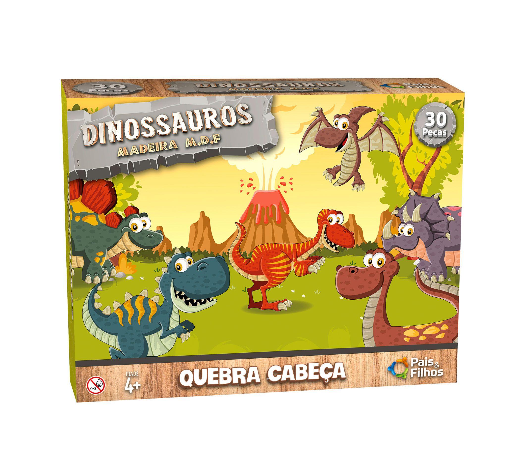 Quebra-Cabeça Dinossauros -  30 peças-0965