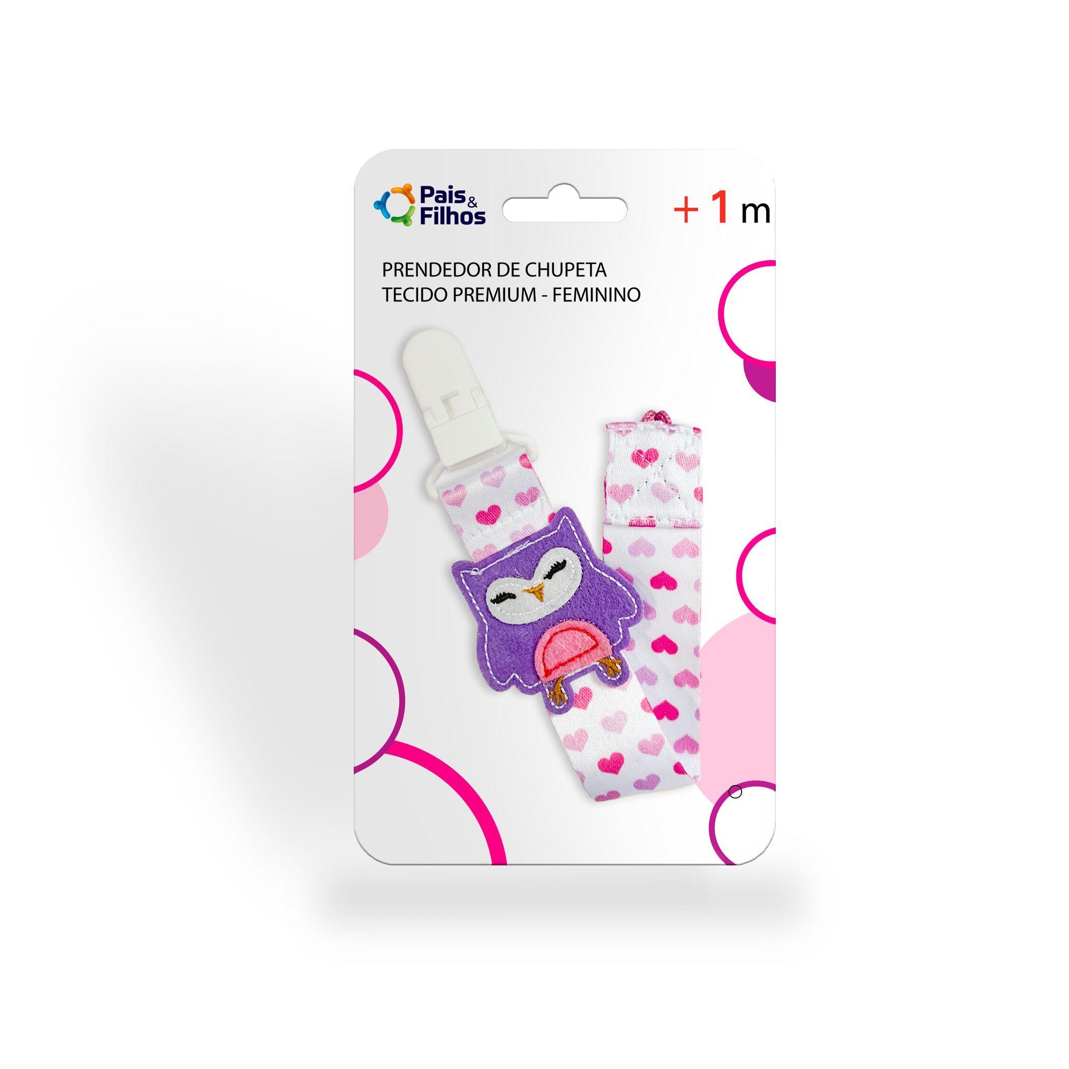 Prendedor de Chupeta Tecido Premium - Feminino-11291