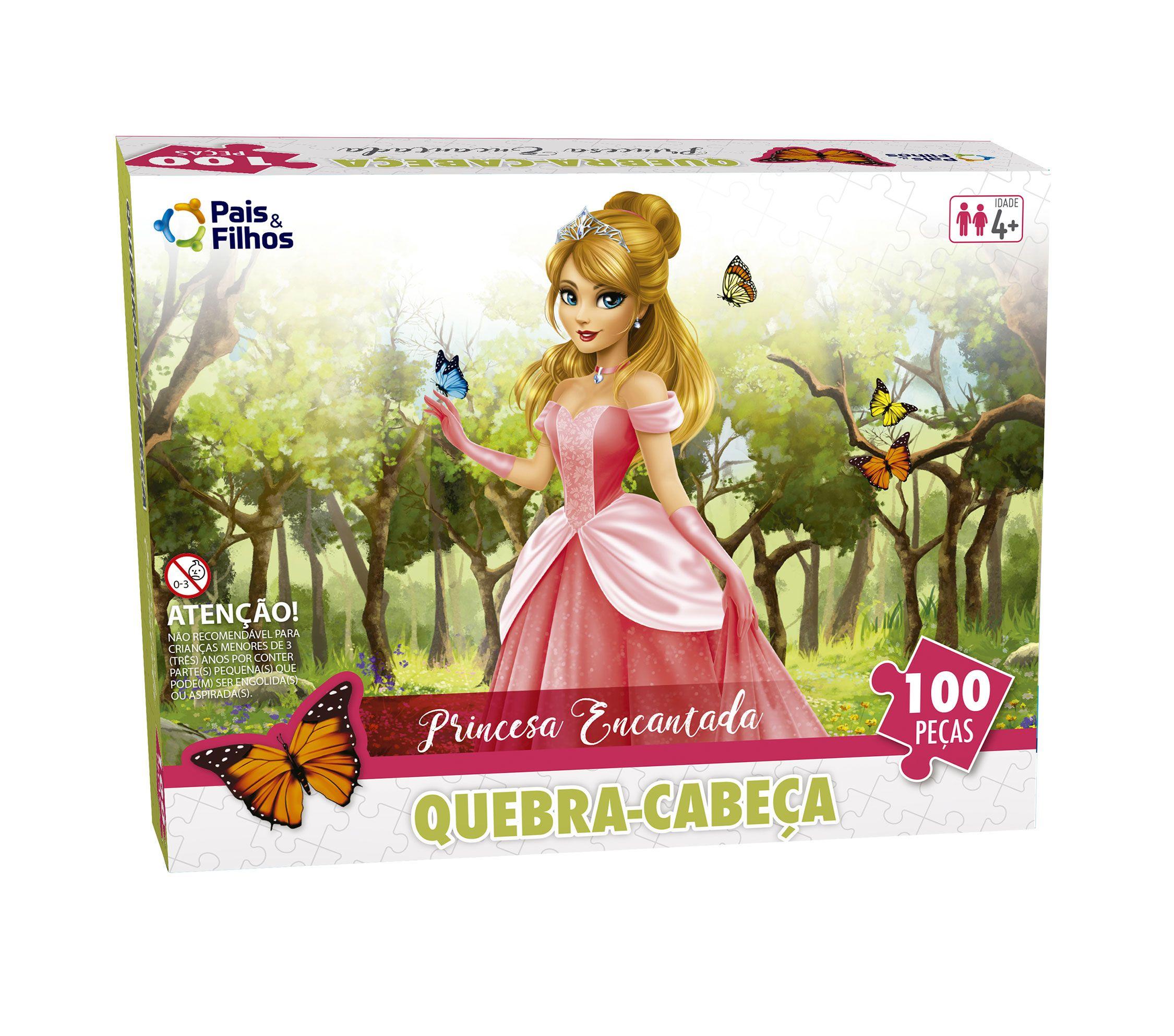 Quebra-Cabeça - Princesa Encantada 100 peças-2177