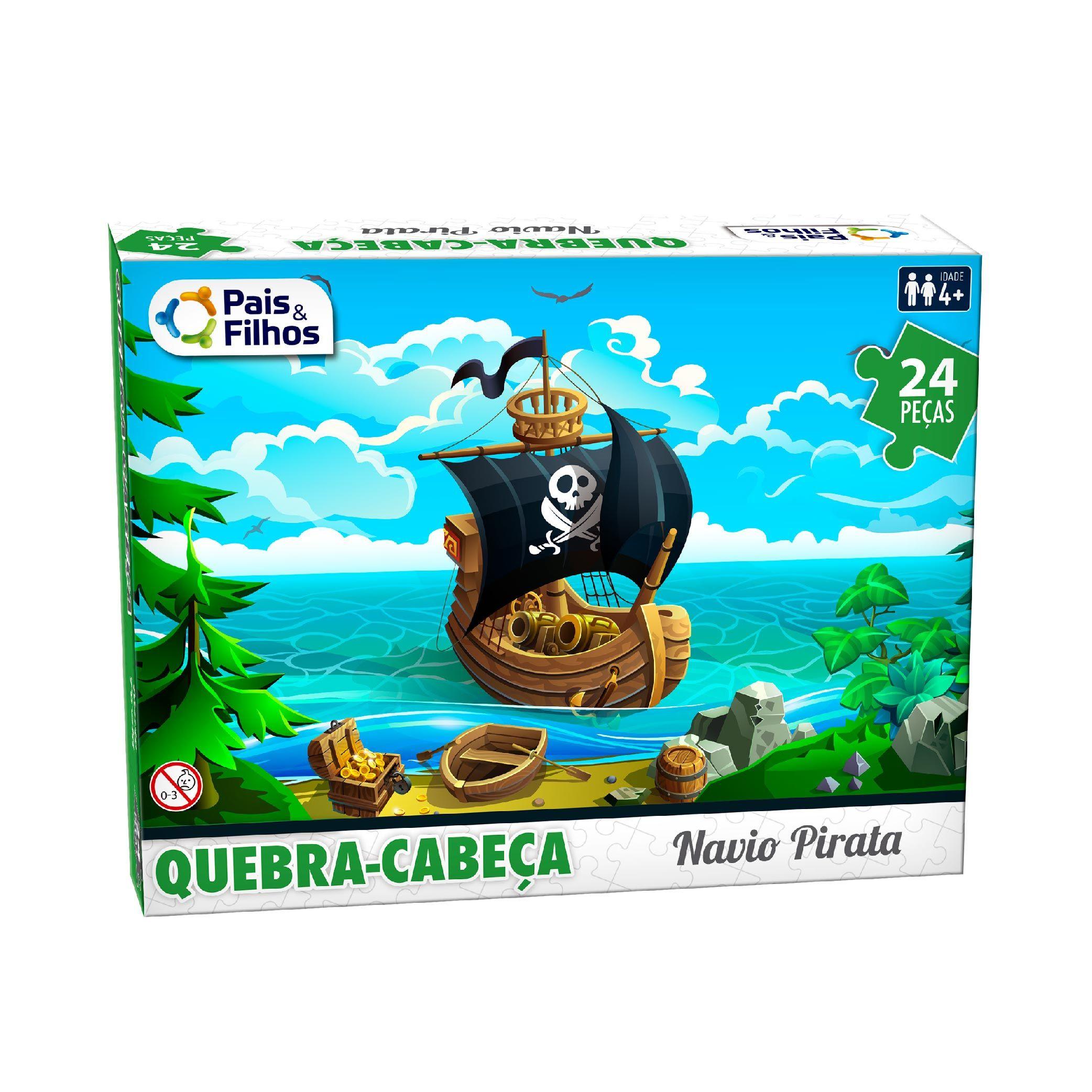 Quebra-Cabeça 24P Navio Pirata Infantil -10770