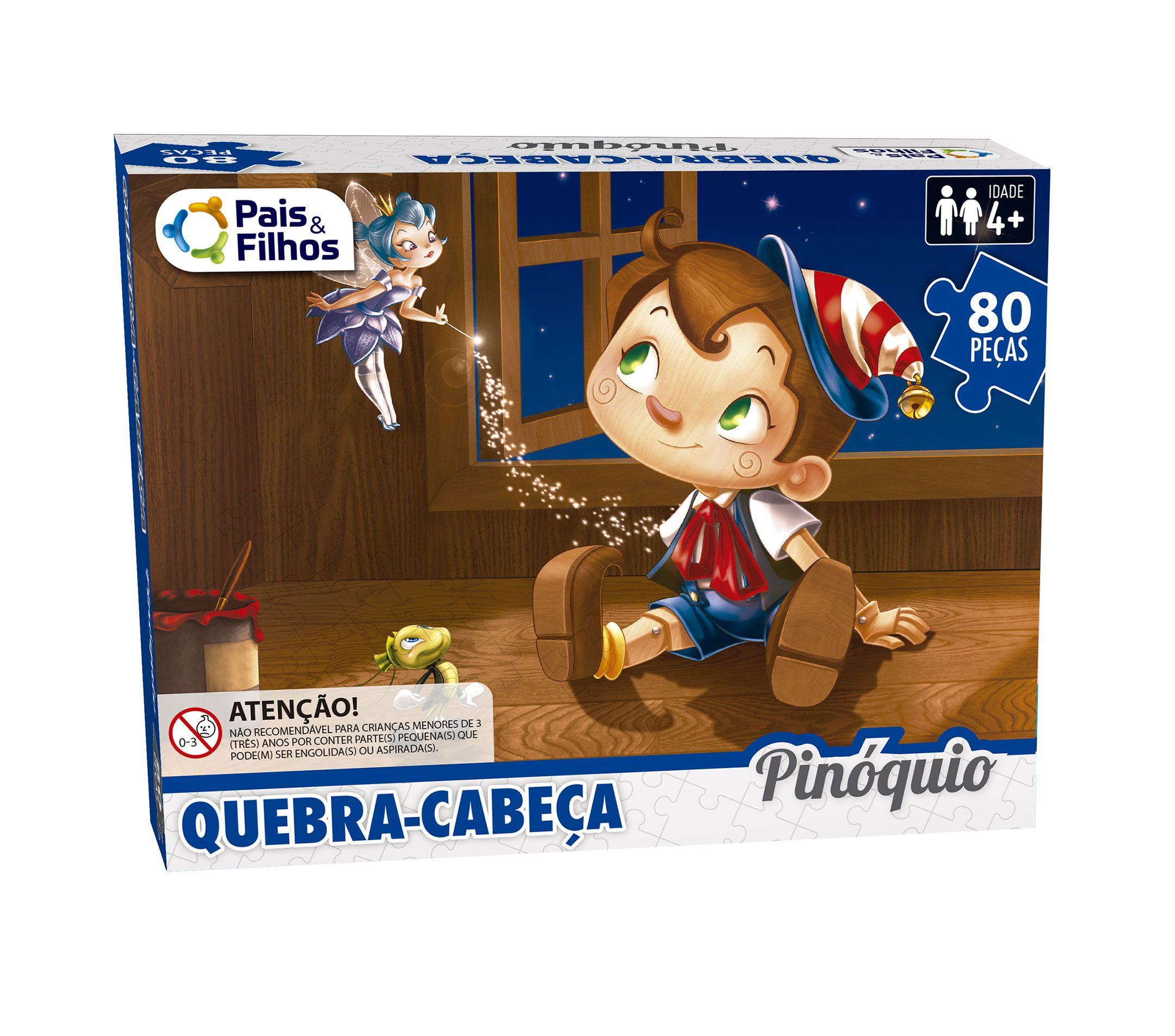 Quebra-Cabeça Pinóquio 80 peças-2851
