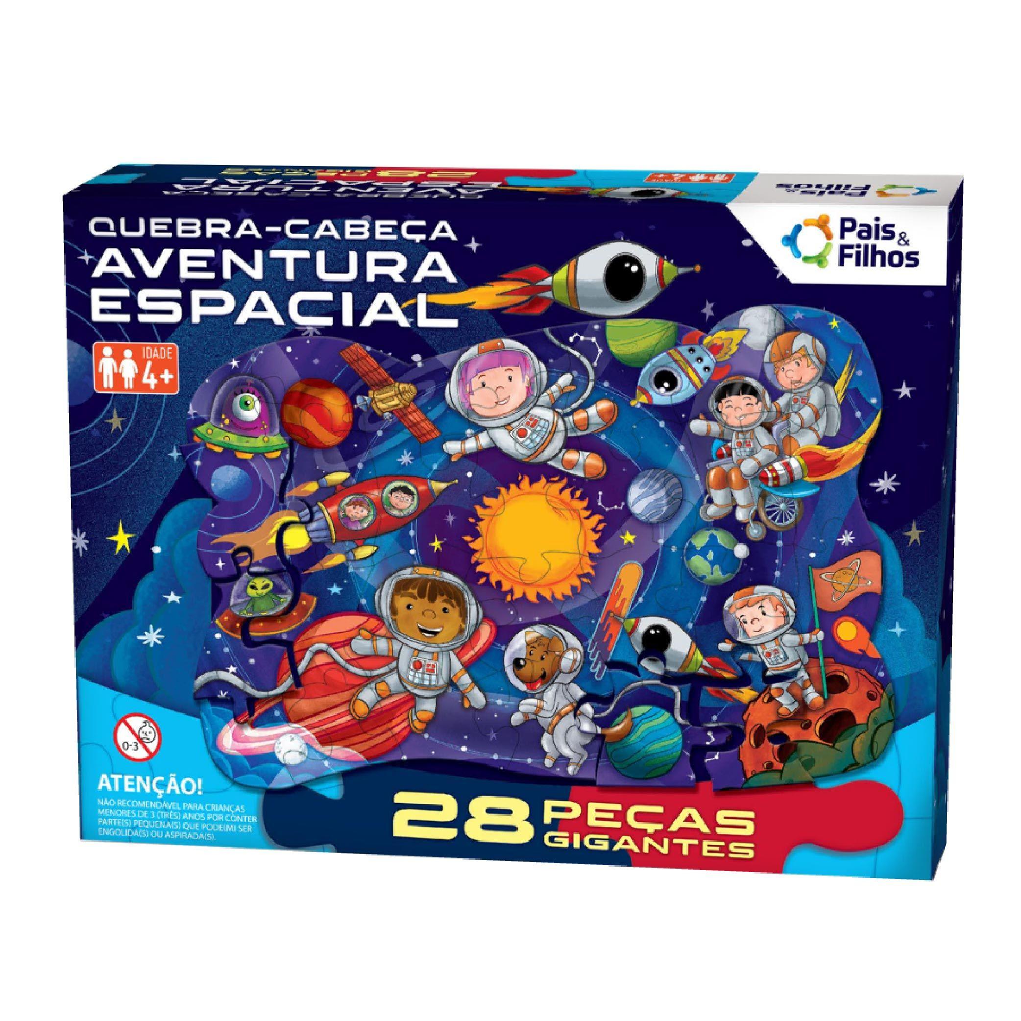 Quebra-Cabeça Gigante Aventura Espacial 28 pçs-10796
