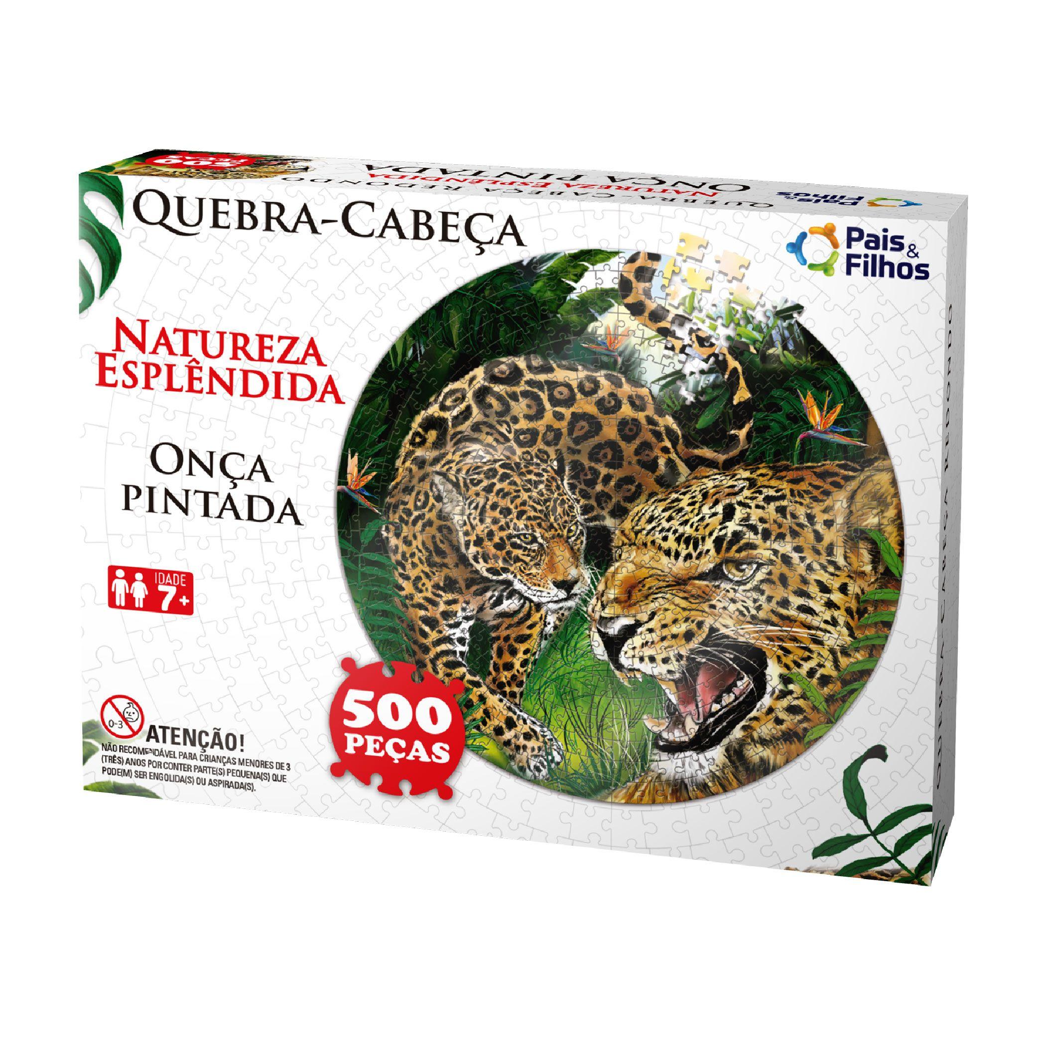 Quebra-cabeça Redondo 500P Onça Pintada-0936