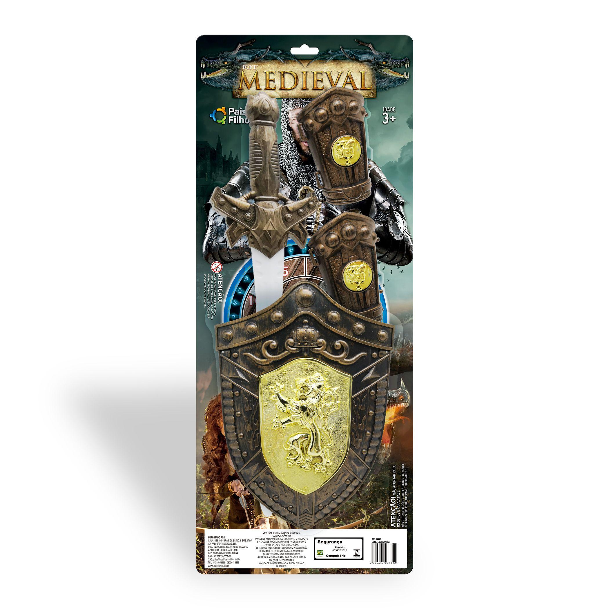 Kit Medieval com Espada e Escudo -17712