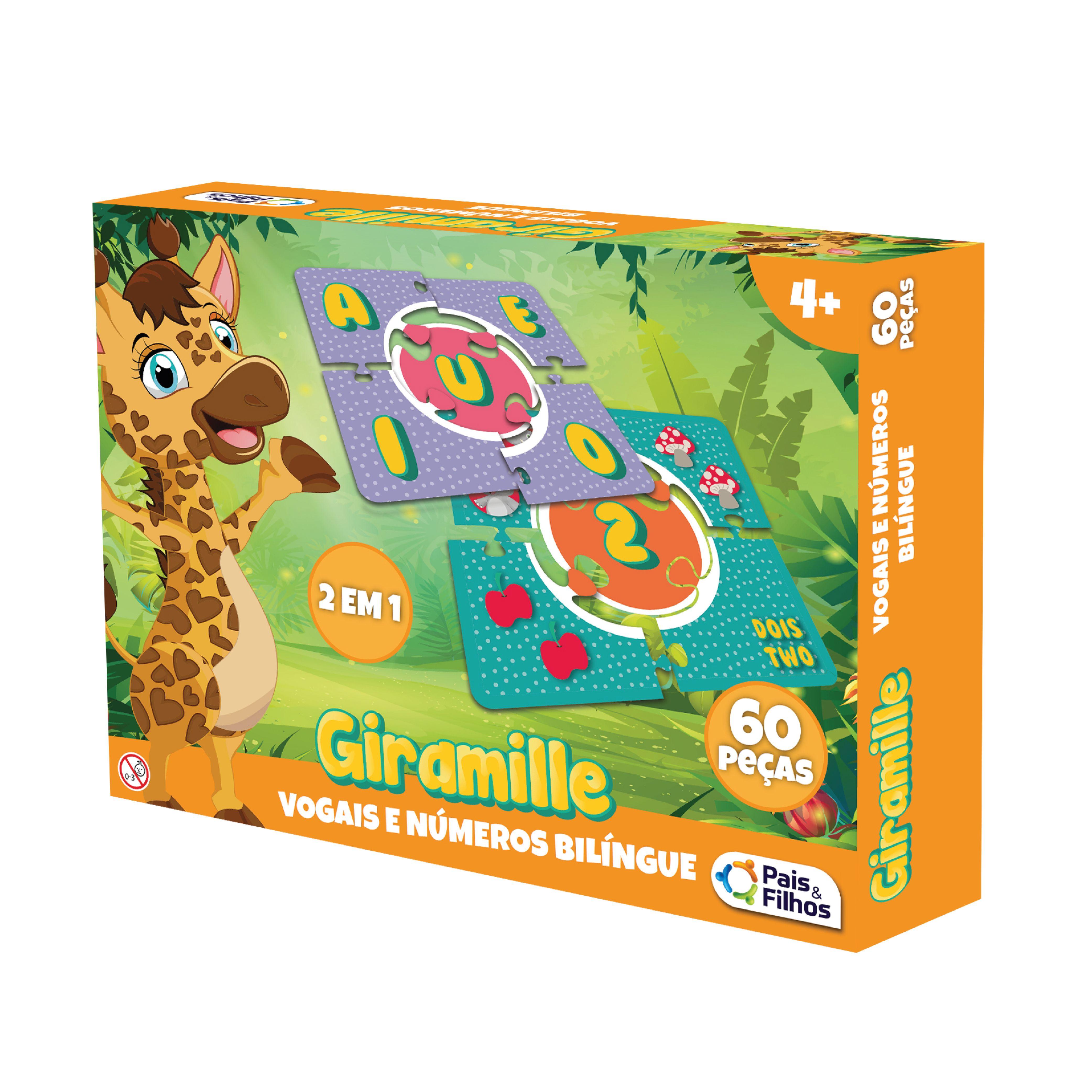 Giramille - Vogais e Números Bilíngue - 60 pçs-10787