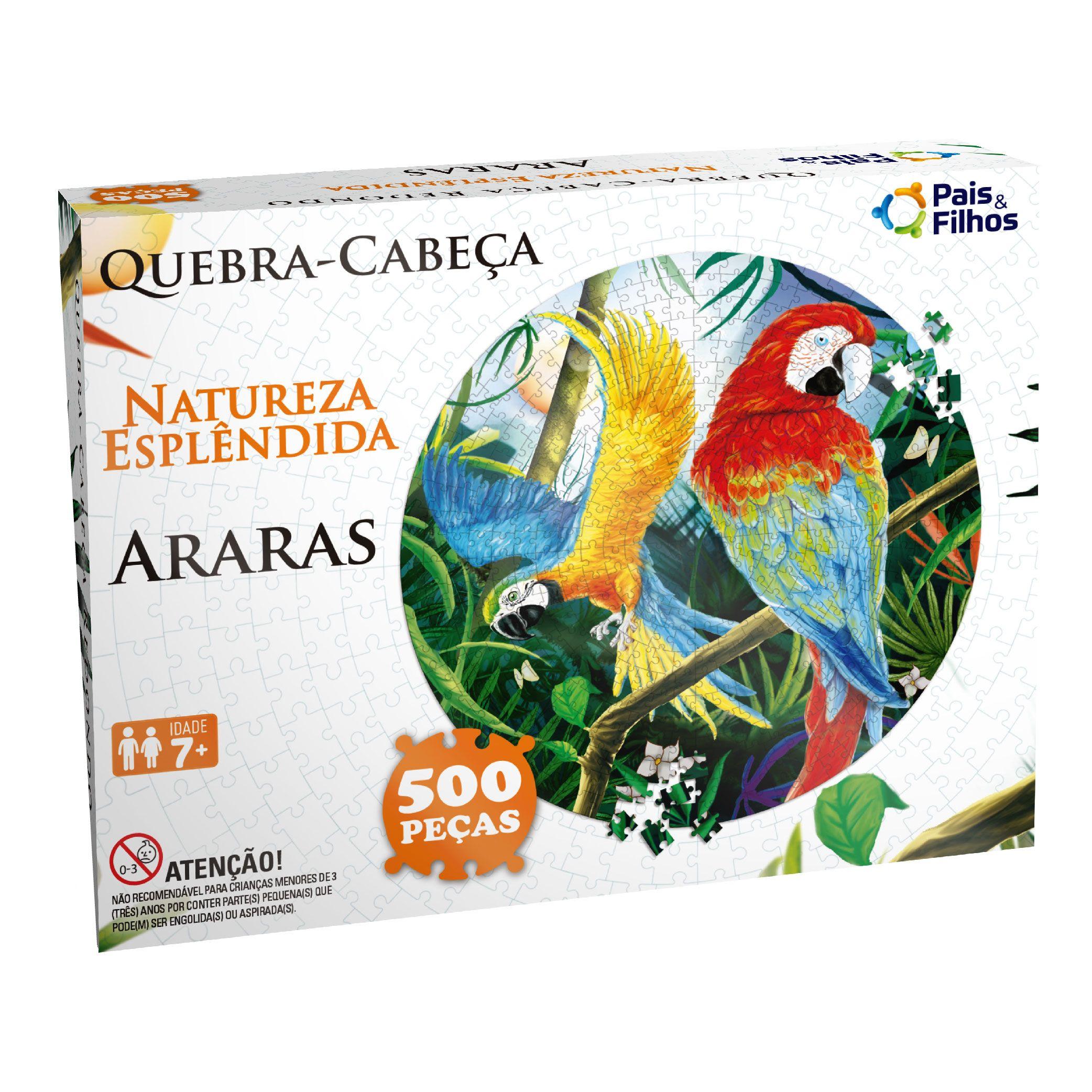 Quebra-cabeça Redondo 500P Araras-0935