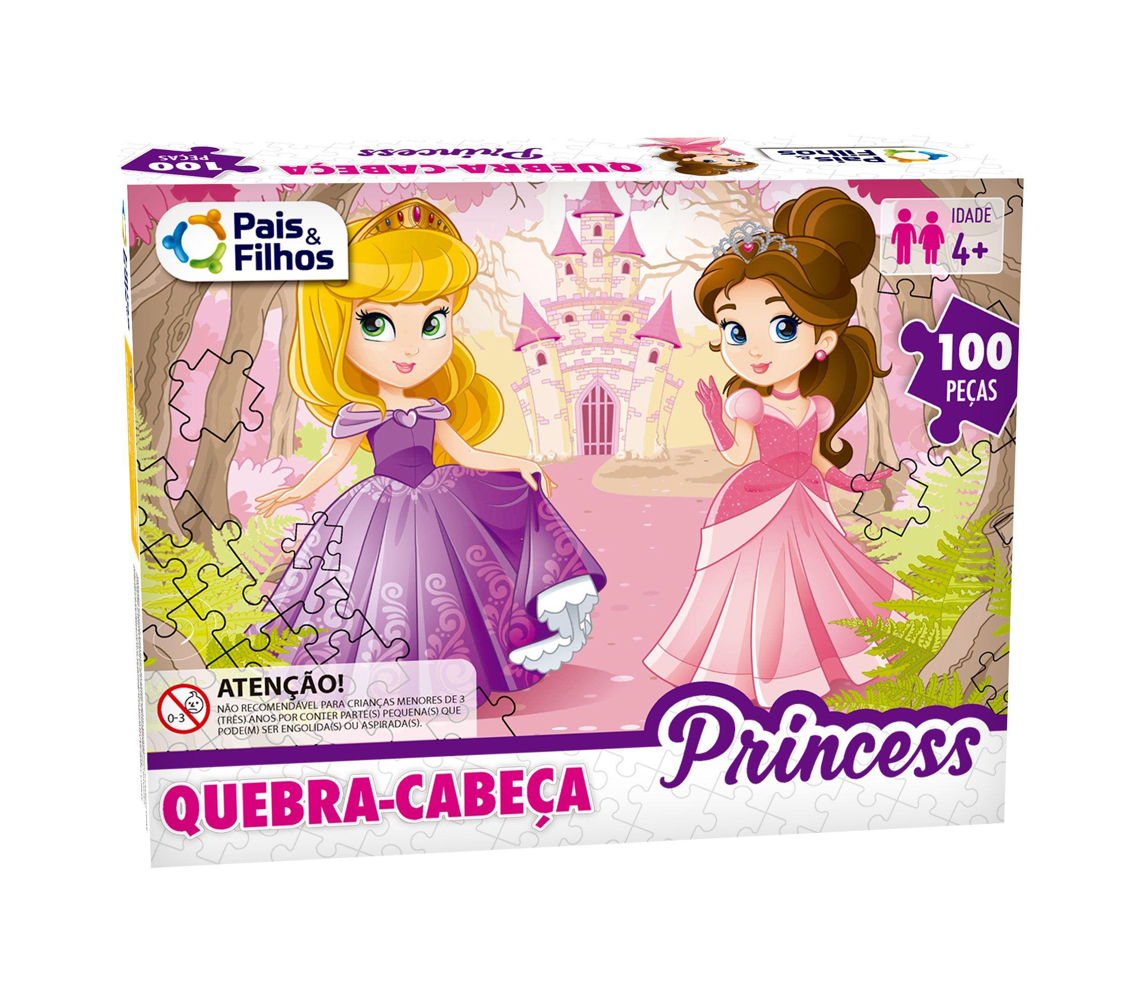 Quebra -Cabeça Princess - 100 Peças-7261