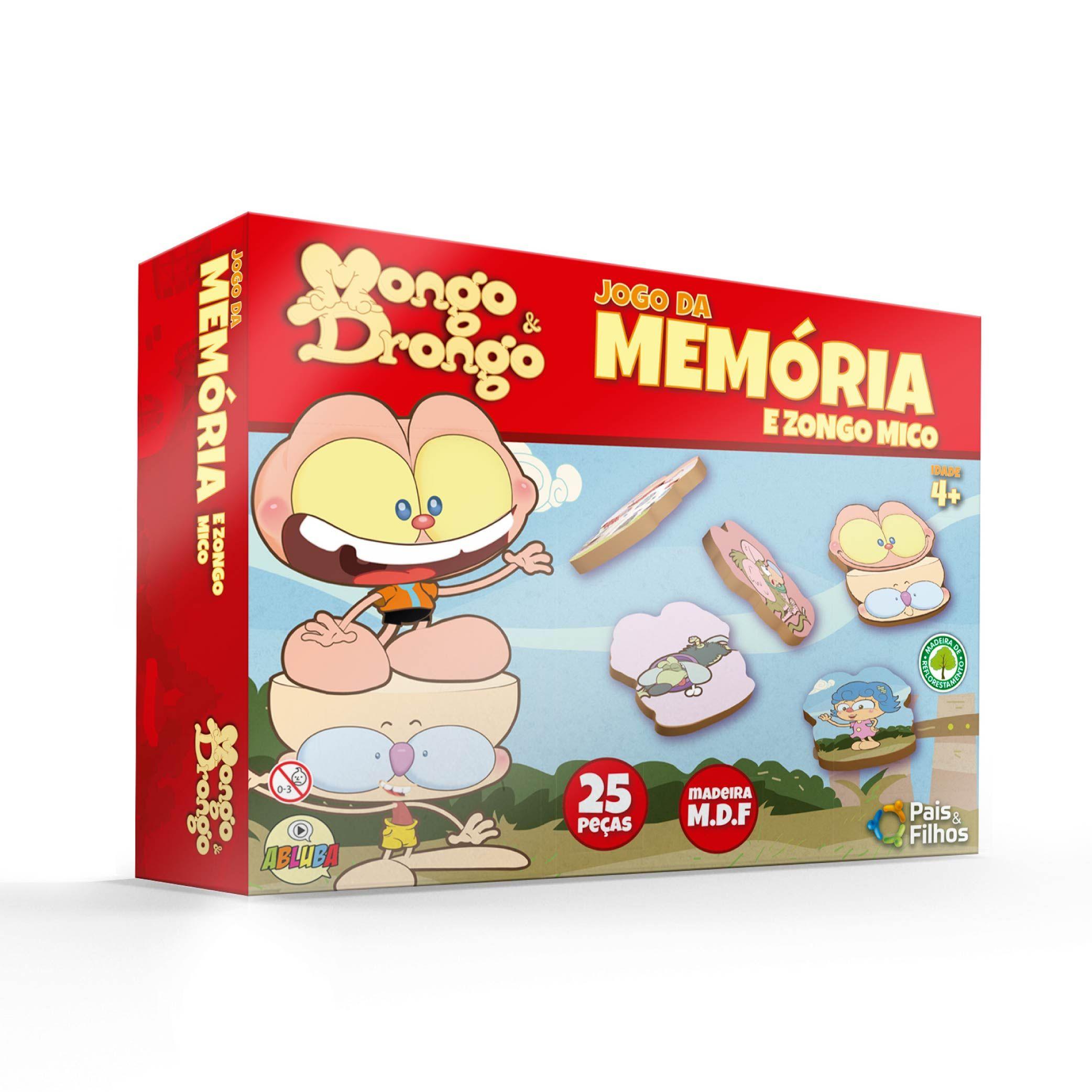 Mongo e Drongo - Memória - 25 pçs MDF-10791