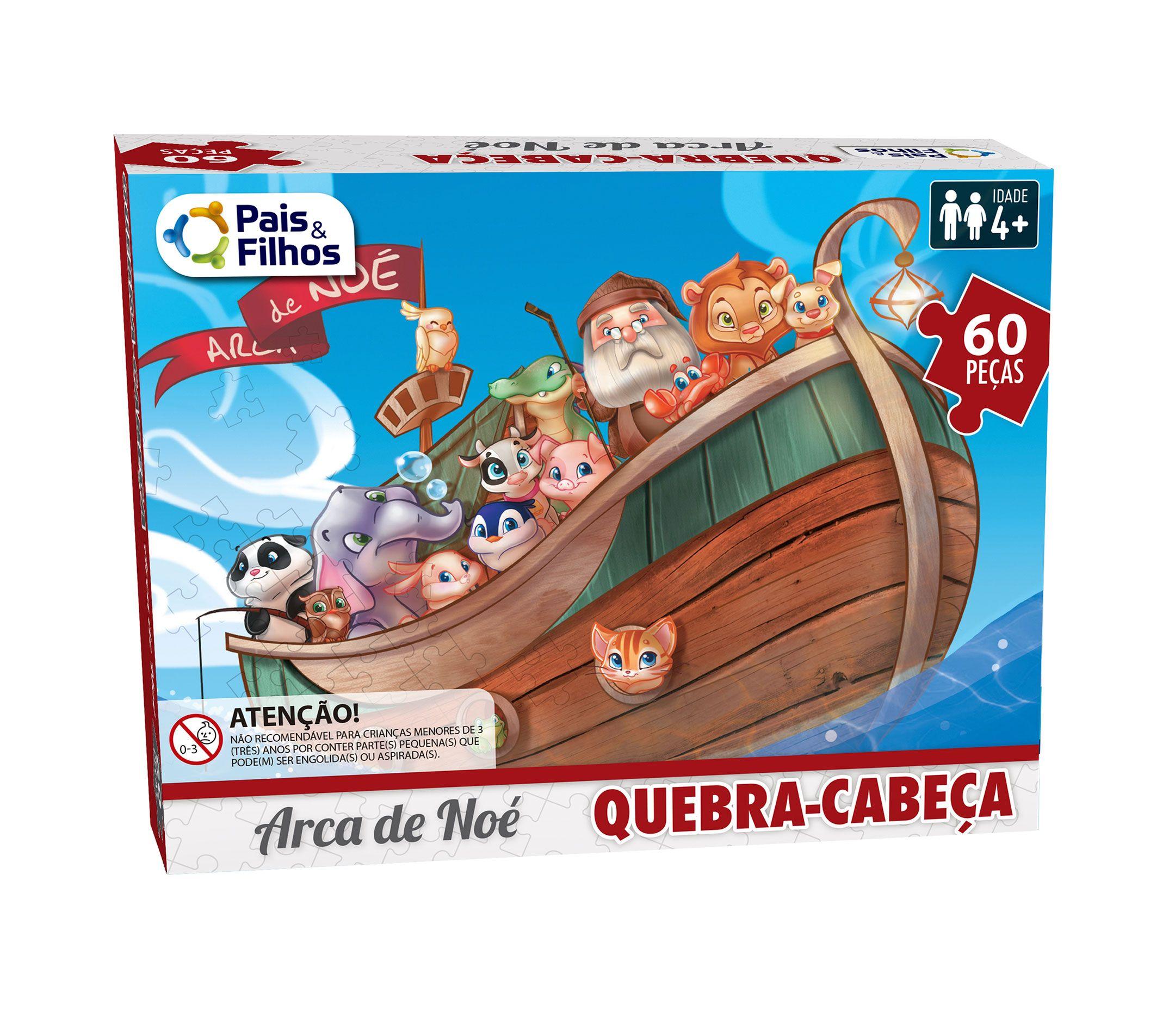 Quebra-Cabeça Arca de Noé 60 peças-2857