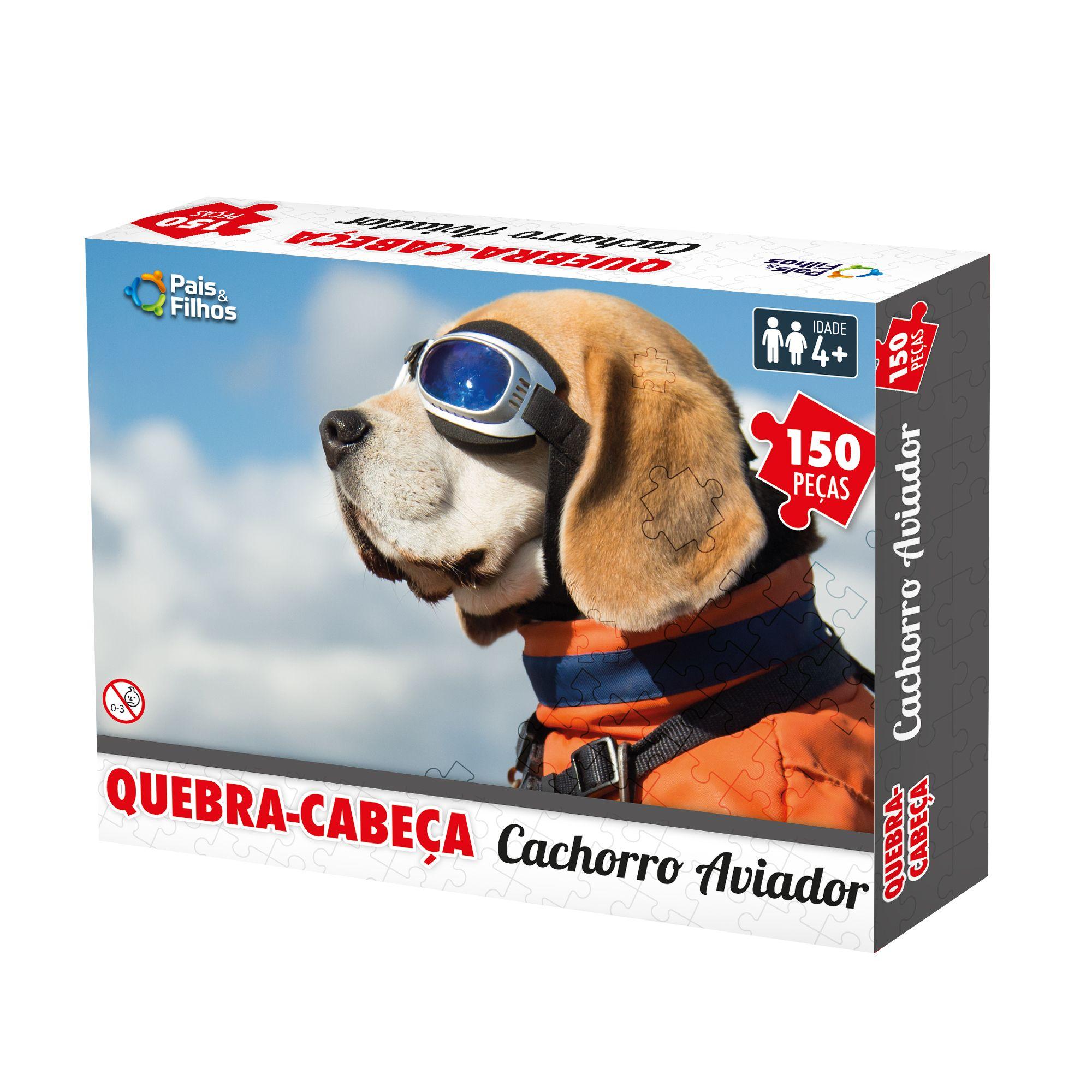 Quebra-cabeça  Cachorro Aviador - 150 pçs-10766