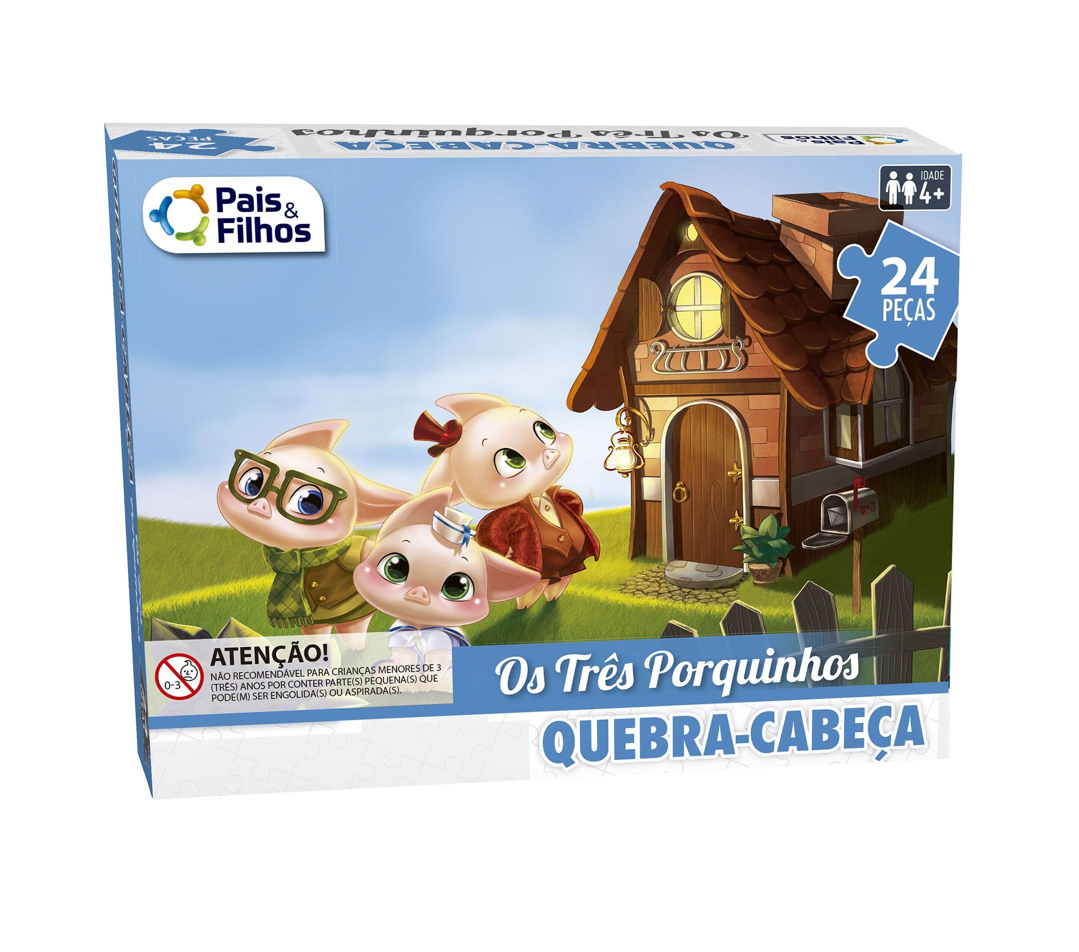 Quebra-Cabeça Os Três Porquinhos 24 peças-2853