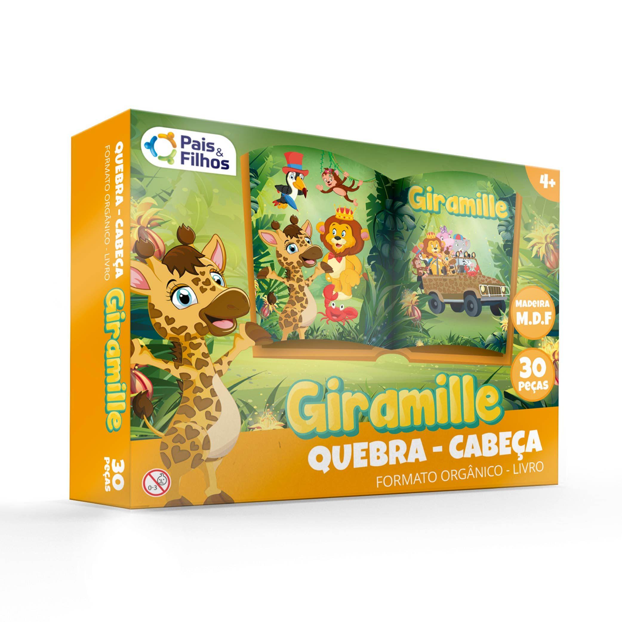 Giramille - Quebra Cabeça Orgânico - 30 pçs MDF-10788