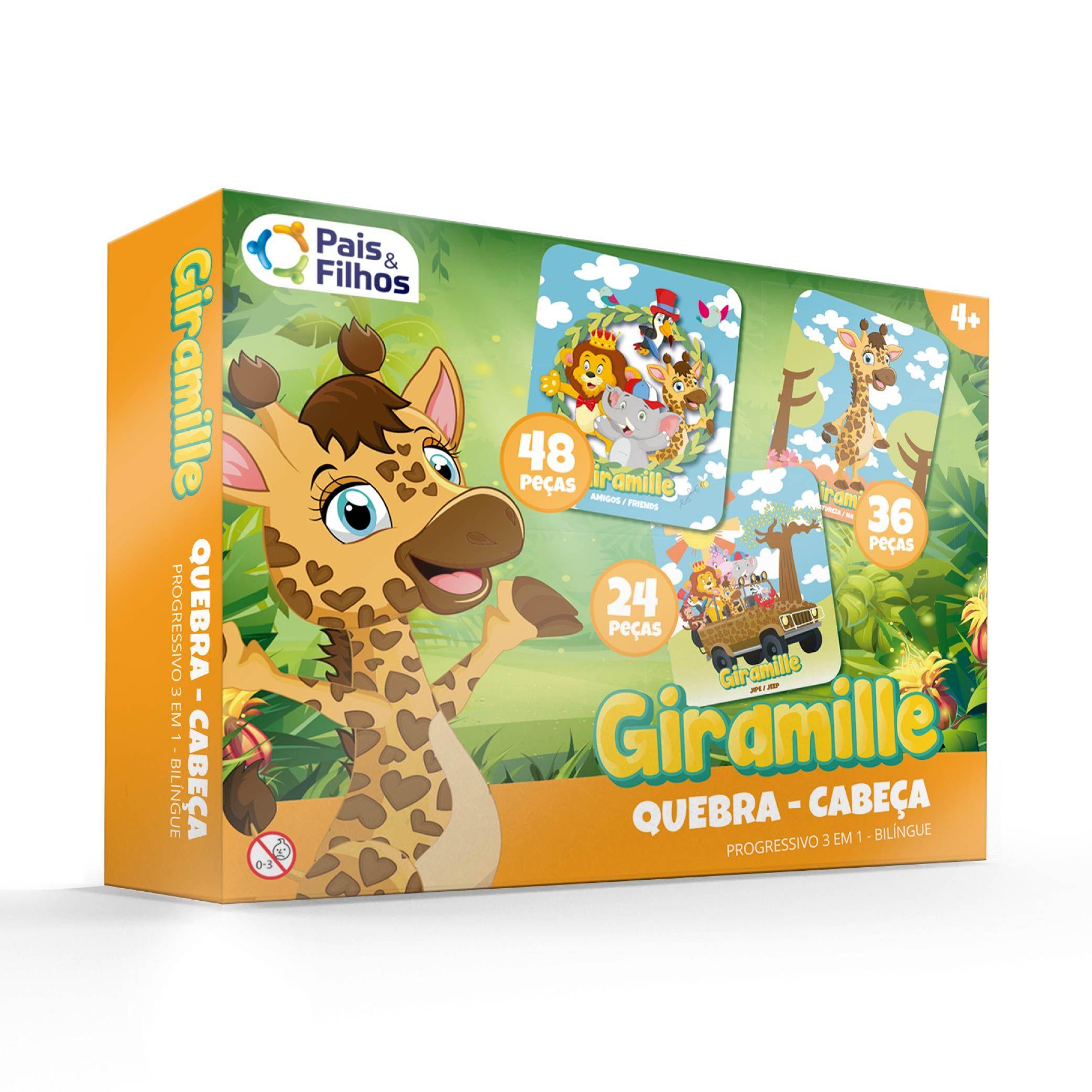 Giramille - Quebra Cabeça Progressivo  Bilíngue 24/36/48 pçs-10785