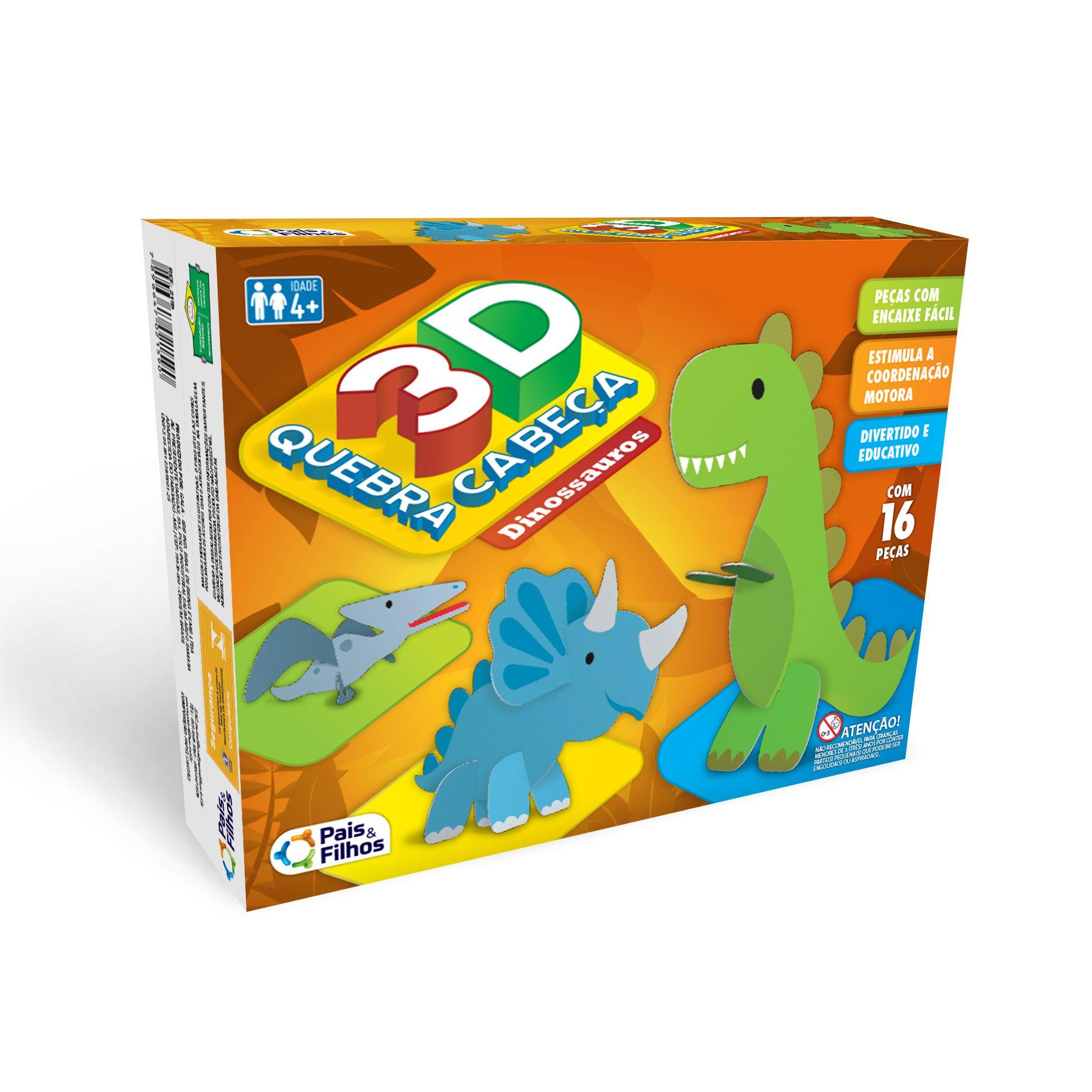 Quebra Cabeças 3D Dinossauros-2161