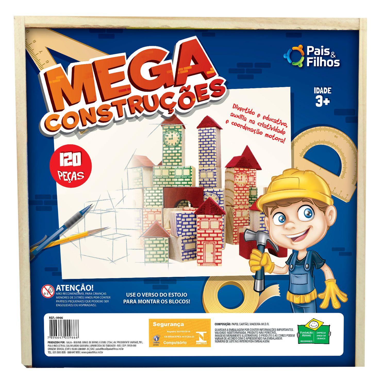 Mega construções 120 peças - Estojo-0966