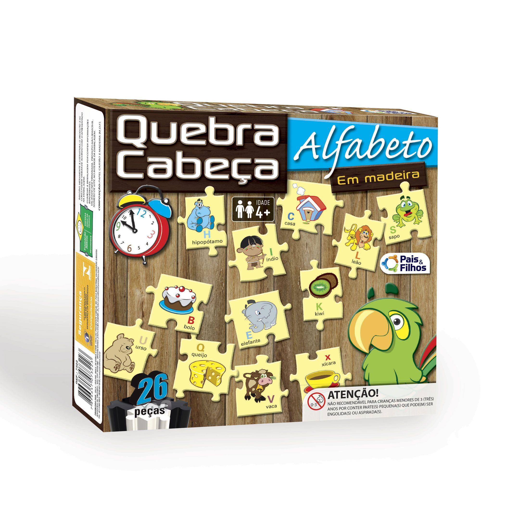 Quebra-Cabeça Alfabeto - 26 peças-7322