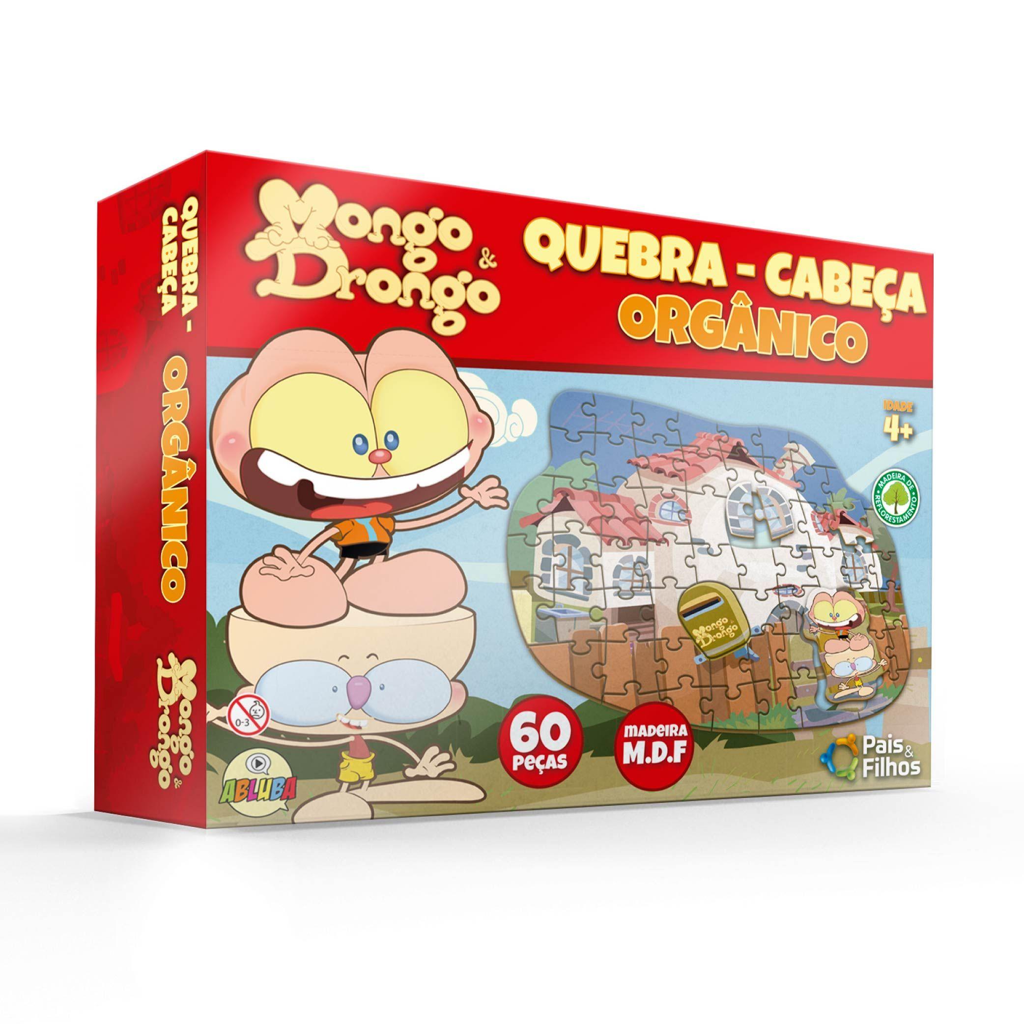 Mongo e Drongo - Quebra Cabeça Organico - 60 pçs MDF-10819