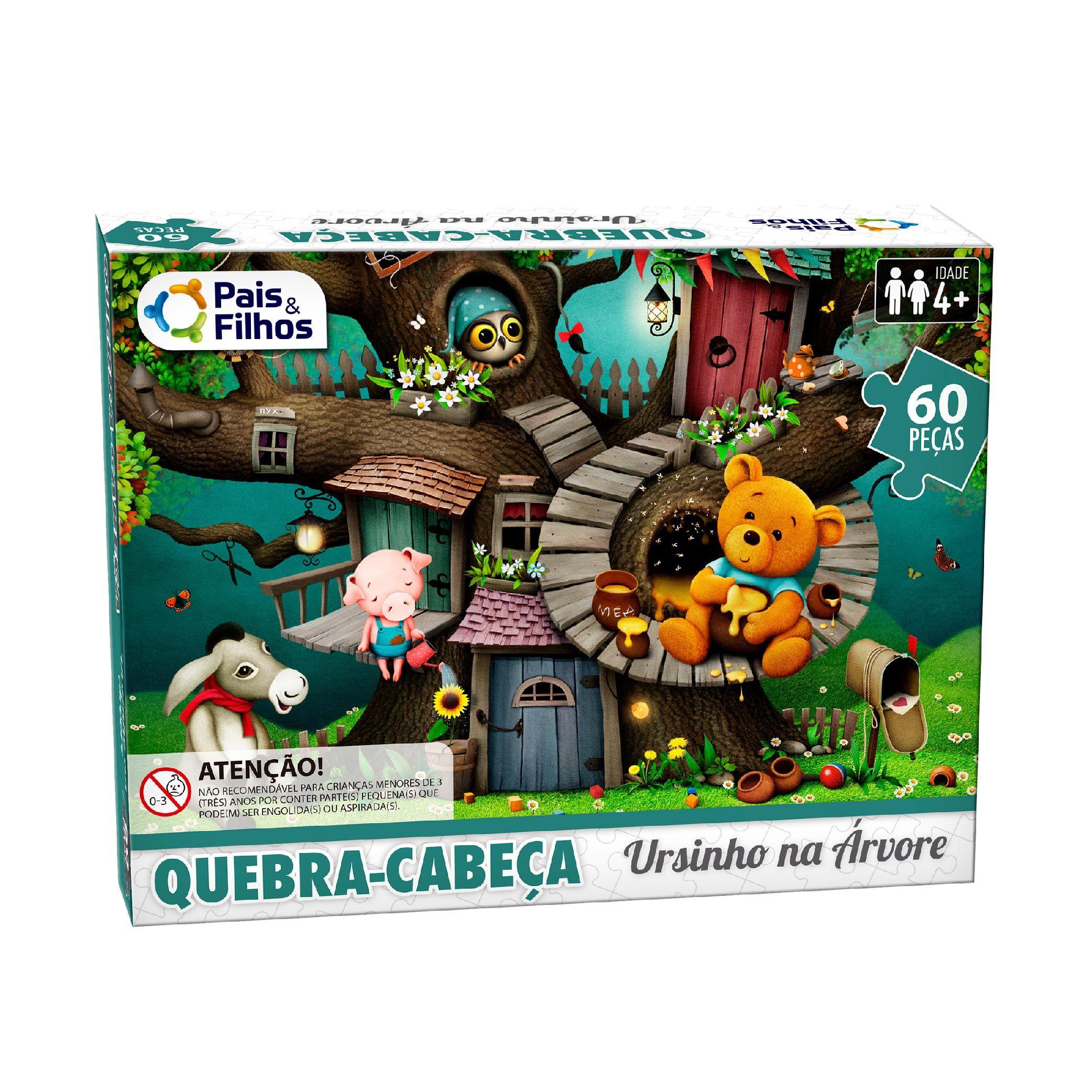 Quebra-Cabeça 60P Ursinho na Árvore-10769
