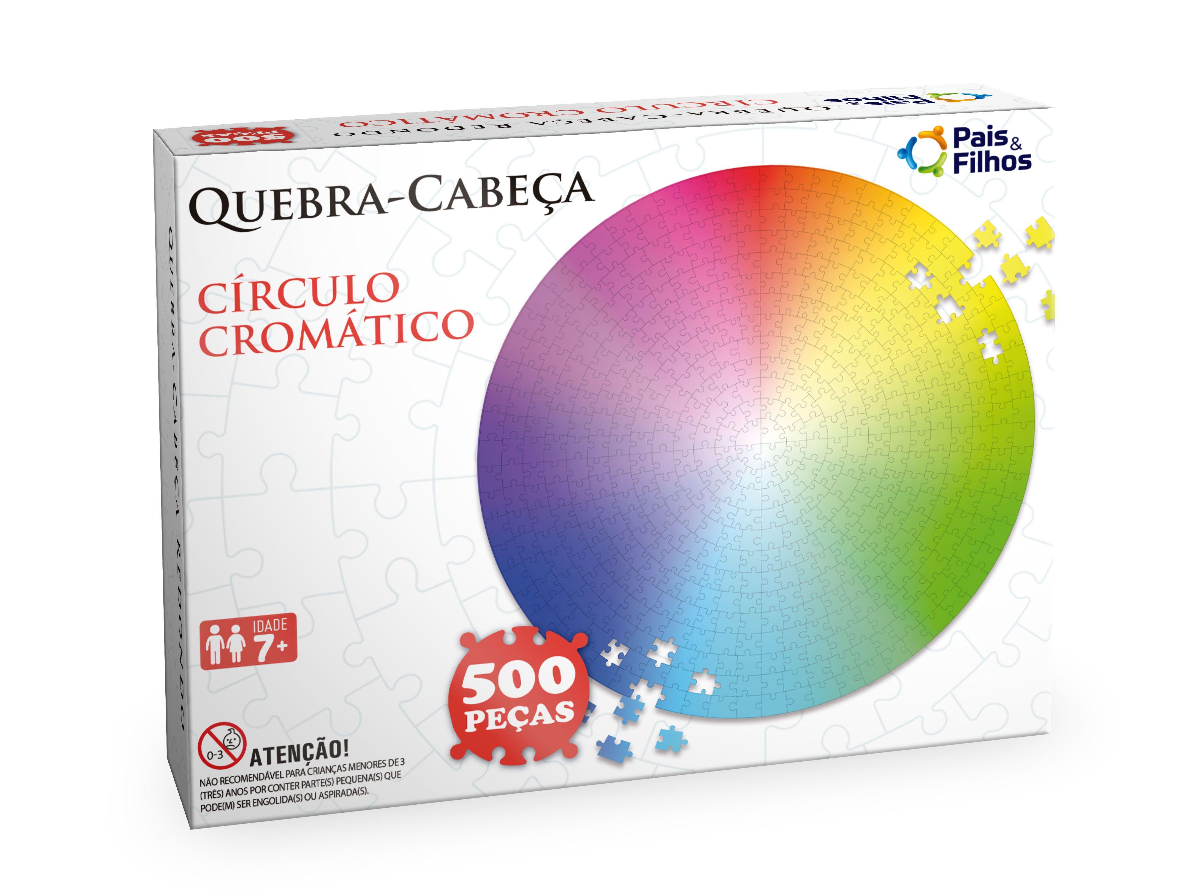Quebra-cabeça Redondo - Círculo Cromático 500 pçs-10765
