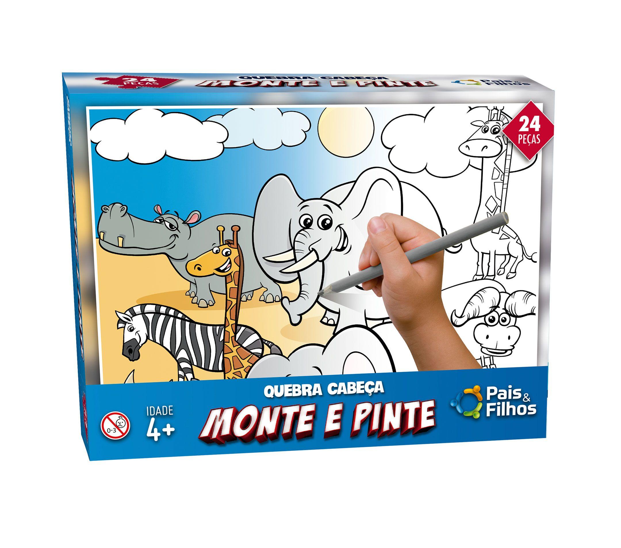 Monte e pinte Safari - 24 peças -0996