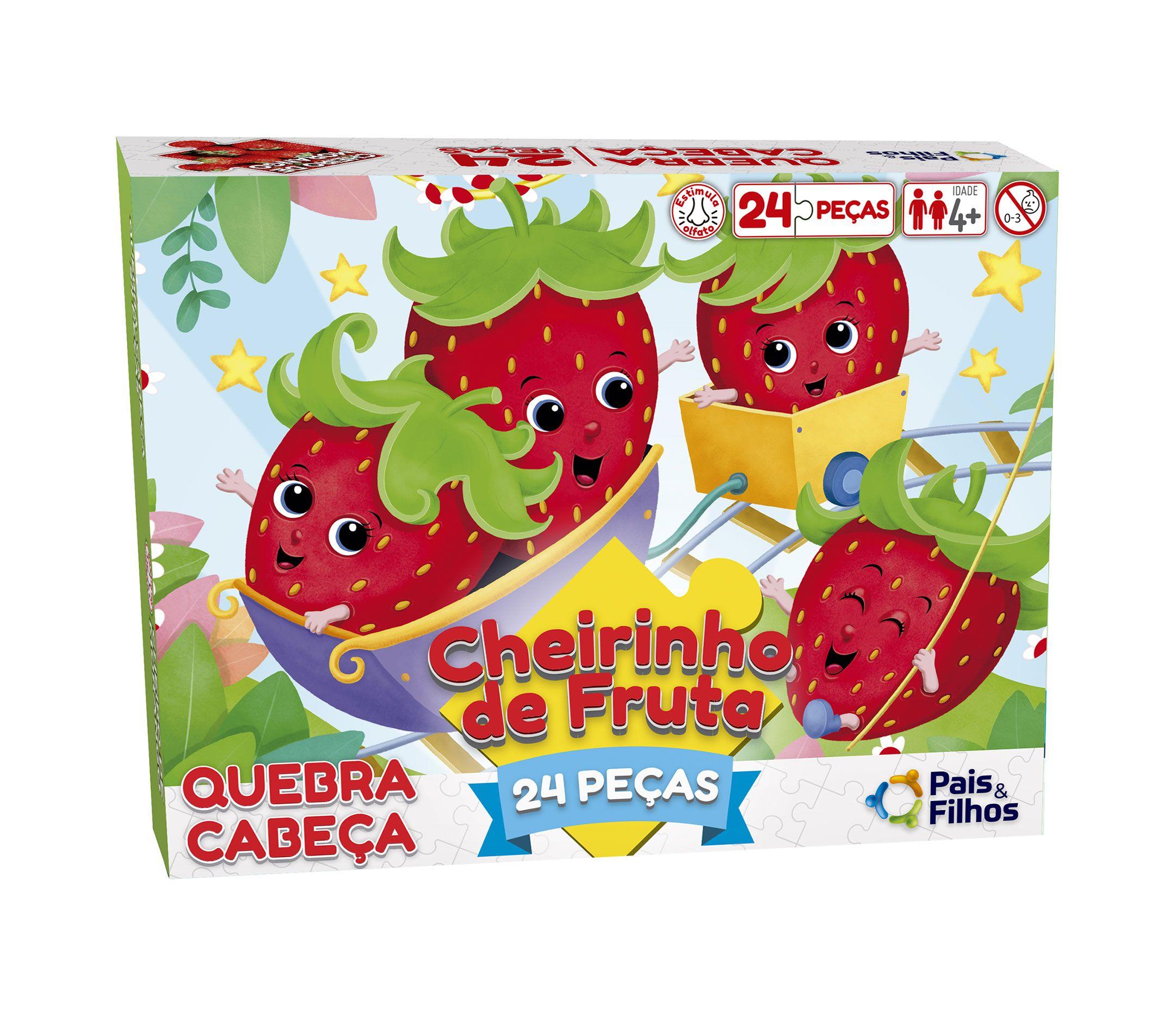 Quebra-Cabeça com cheirinho de fruta - Morango 24 peças-0992