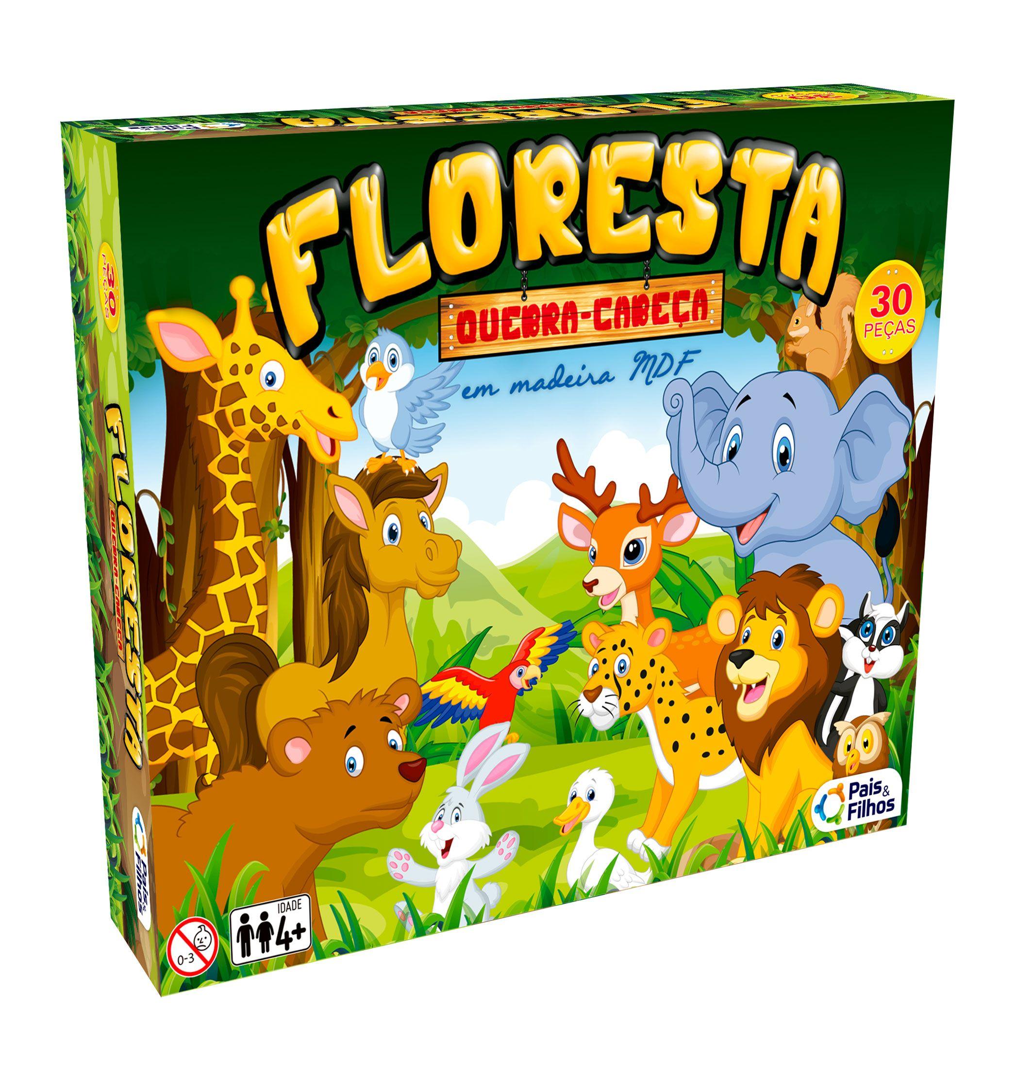 Floresta - 30 peças Quebra-Cabeça em Madeira-7690