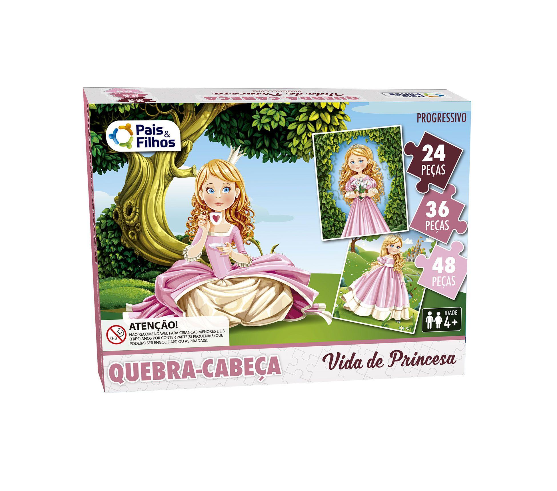 Quebra-Cabeça Progressivo Vida de Princesa-2846