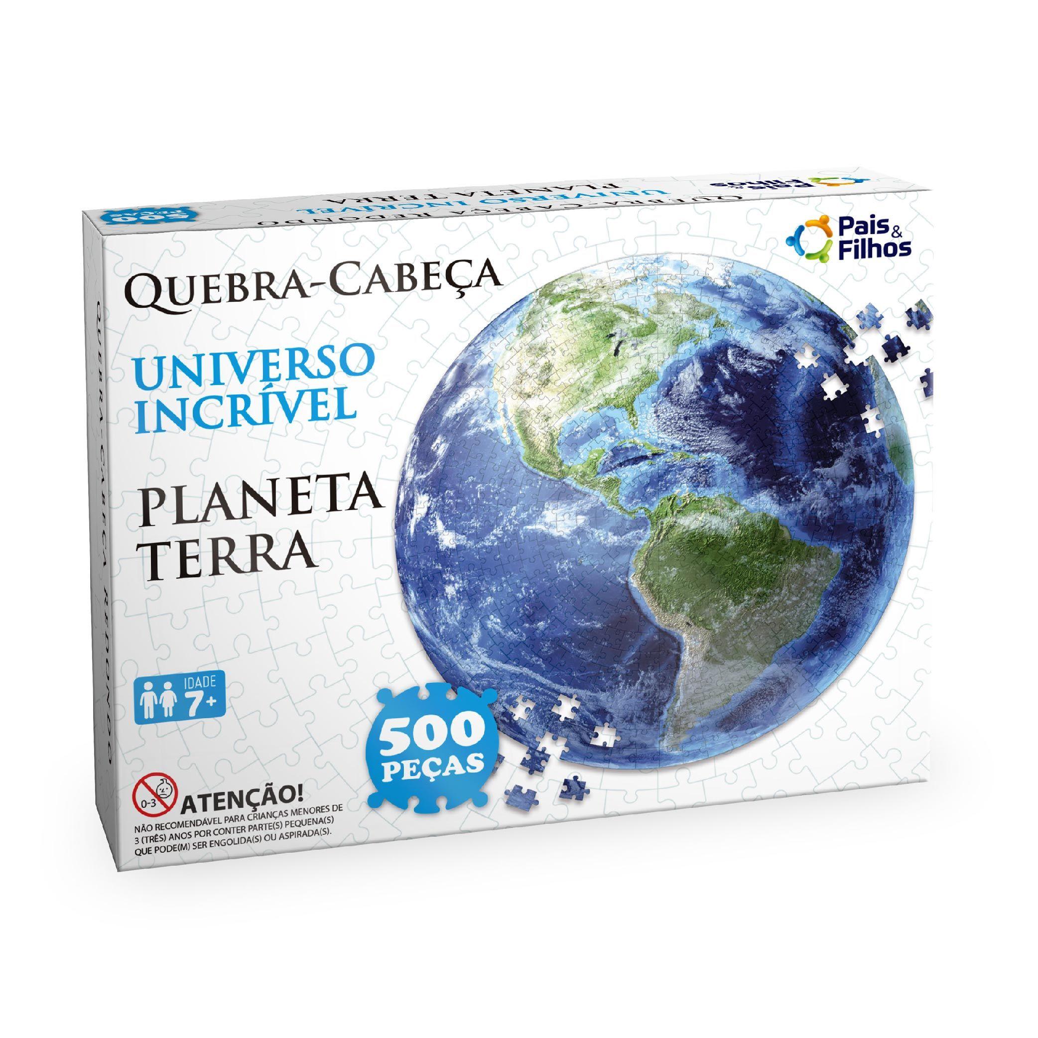 Quebra-cabeça Redondo  500P Planeta terra-10764