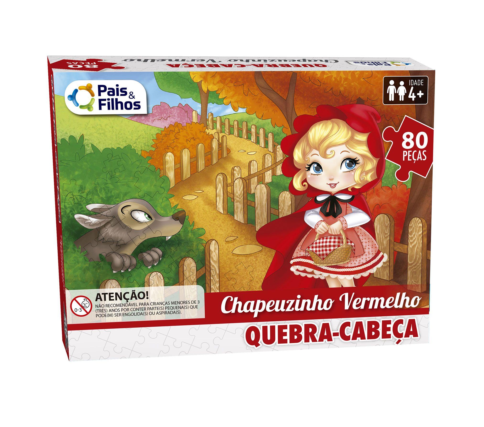 Quebra-Cabeça Chapeuzinho Vermelho 80 peças-2862